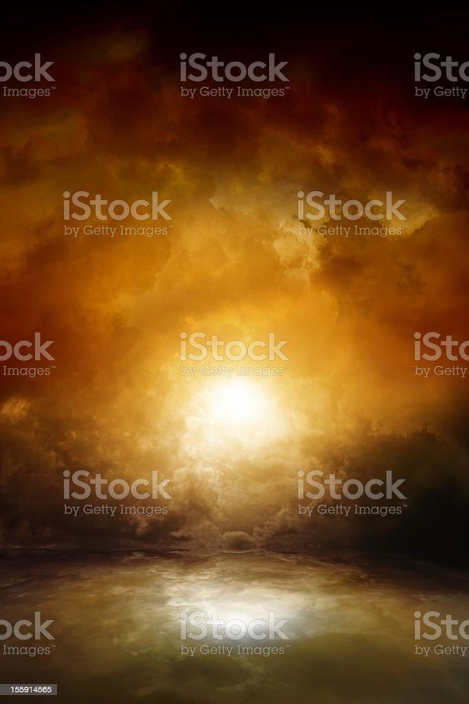 Dramatic moody sky stock photo