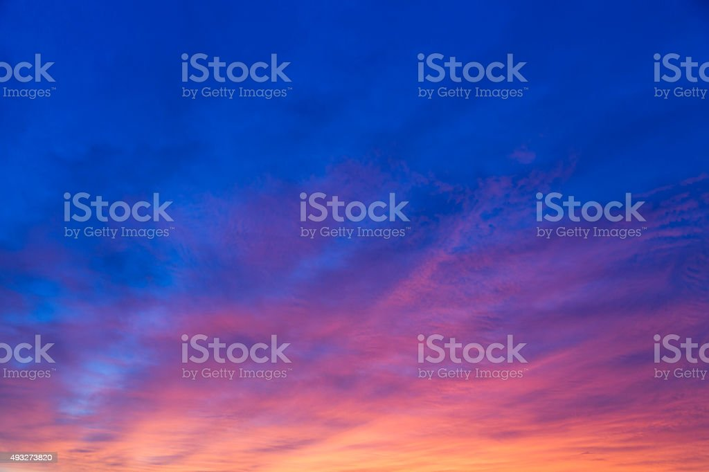 Dramatic Morning Sky stock photo