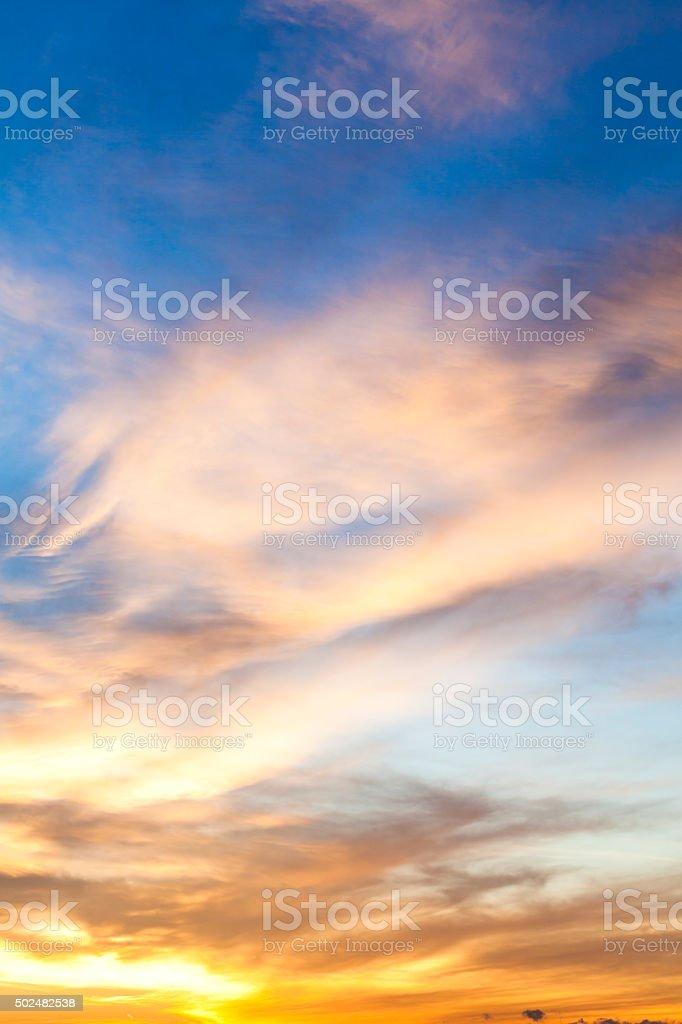Dramatic Morning Sky stock photo