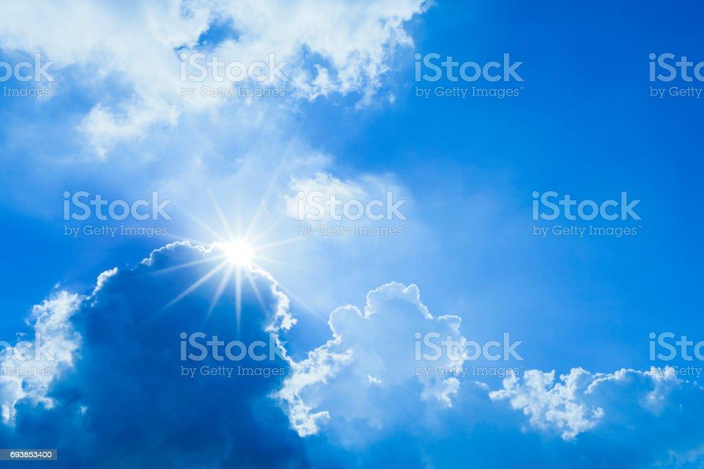 Sunlight Through Clouds in Summer
