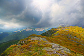 Dramatic mountain stormy landscape