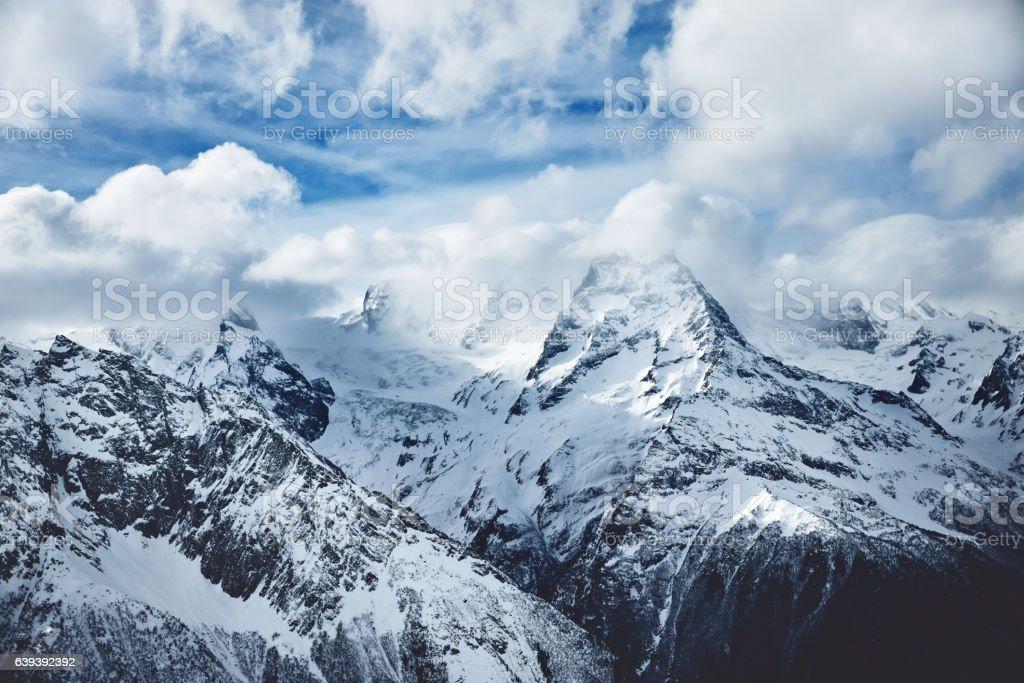 Dramatic mountains photo stock photo