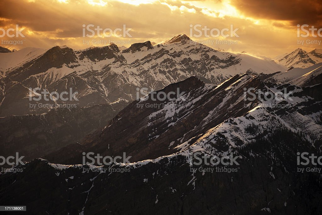 Dramatic Mountains stock photo