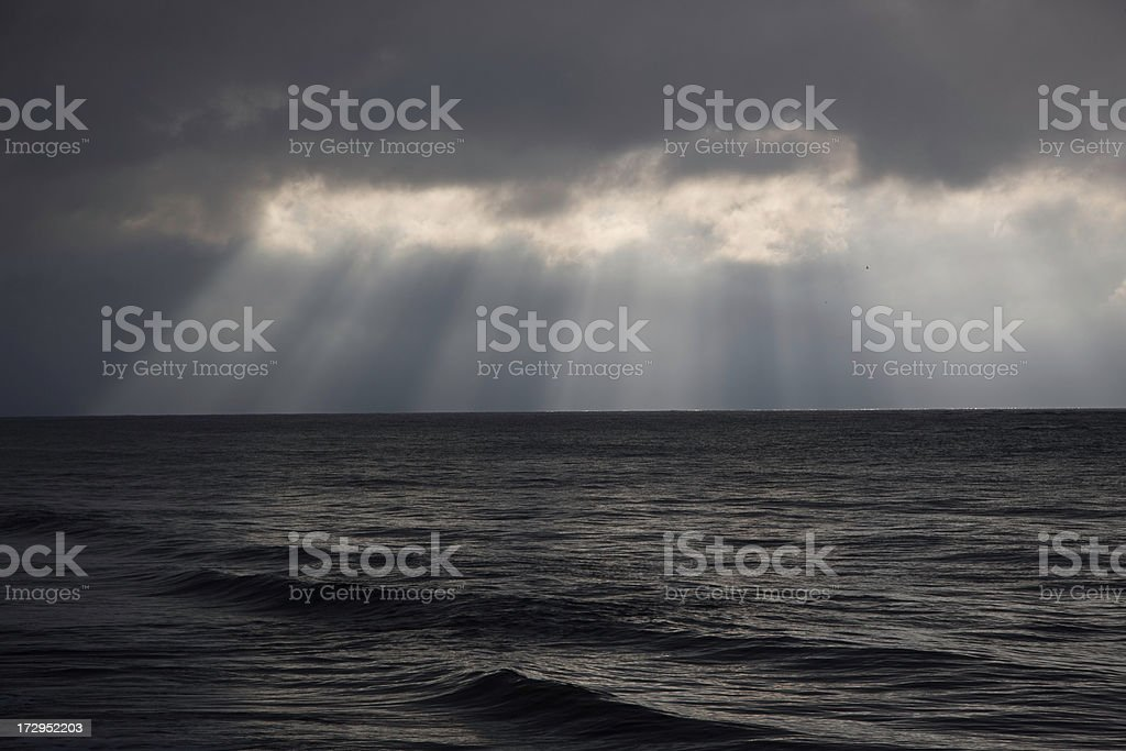 Dramatic Ocean Sky royalty-free stock photo