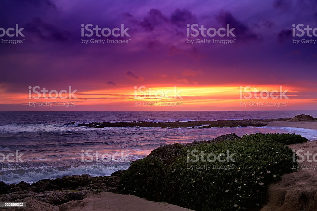 Dramatic Ocean view from Highway #1 at the US stock photo