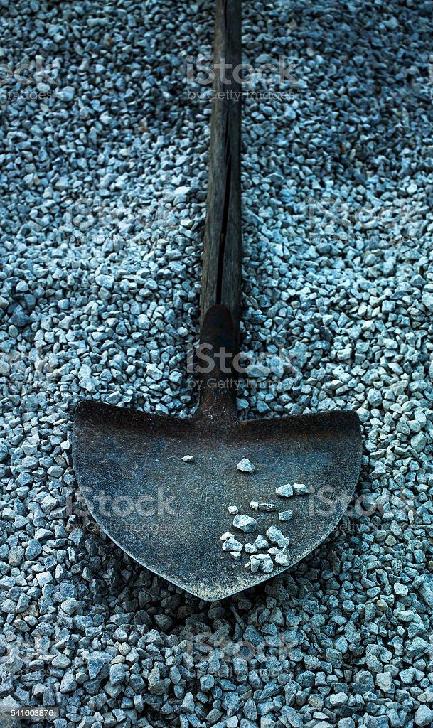 Dramatic old shovel stock photo