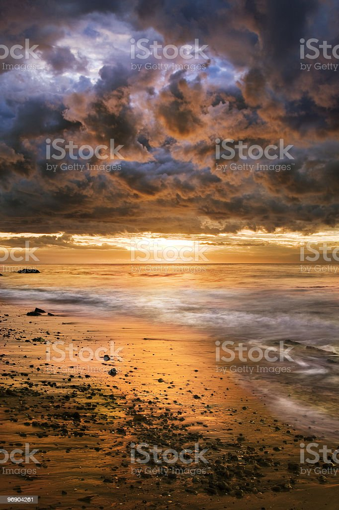 Dramatic Pacific Sunrise stock photo