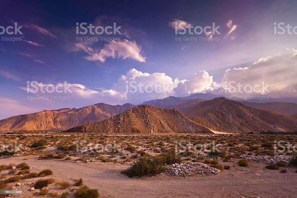 Dramatic Palm Springs Landscape stock photo
