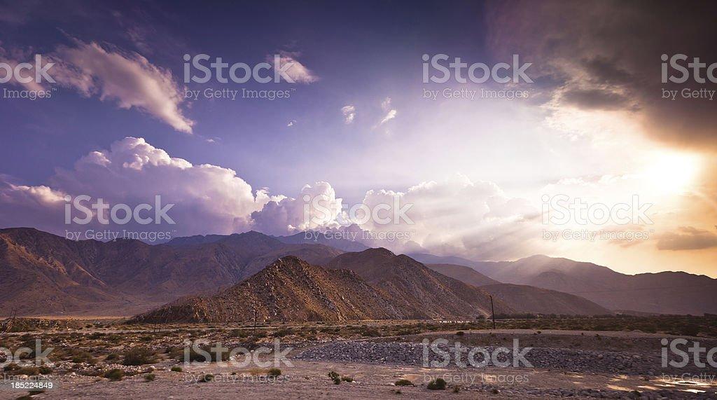Dramatic Palm Springs Landscape stock photo