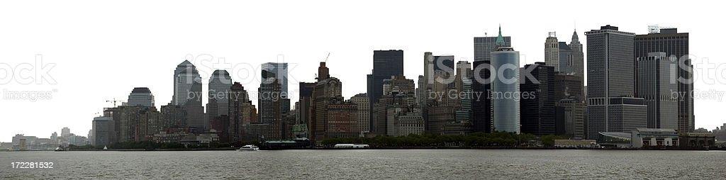 Dramatic panorama of New York royalty-free stock photo