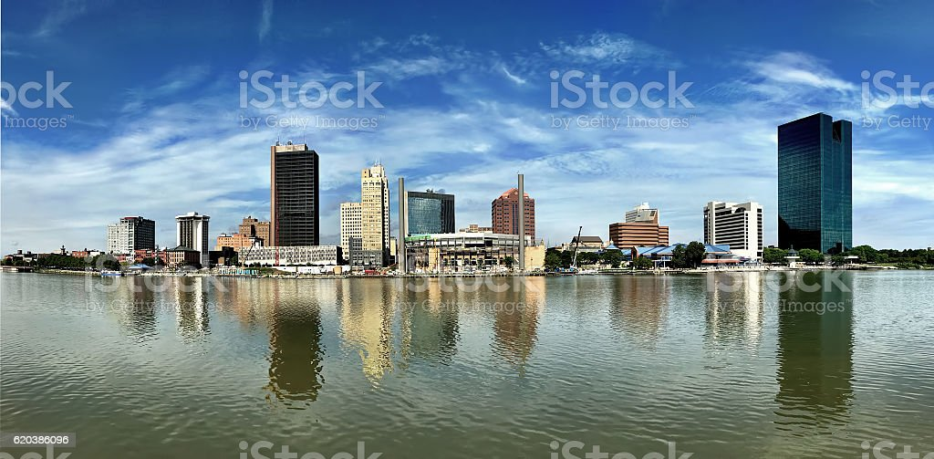 Dramatic panorama of the Toledo skyline stock photo