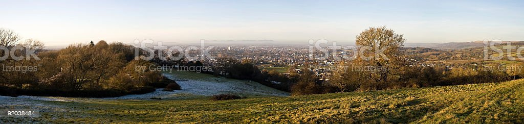 Dramatic panoramic view of Cheltenham royalty-free stock photo
