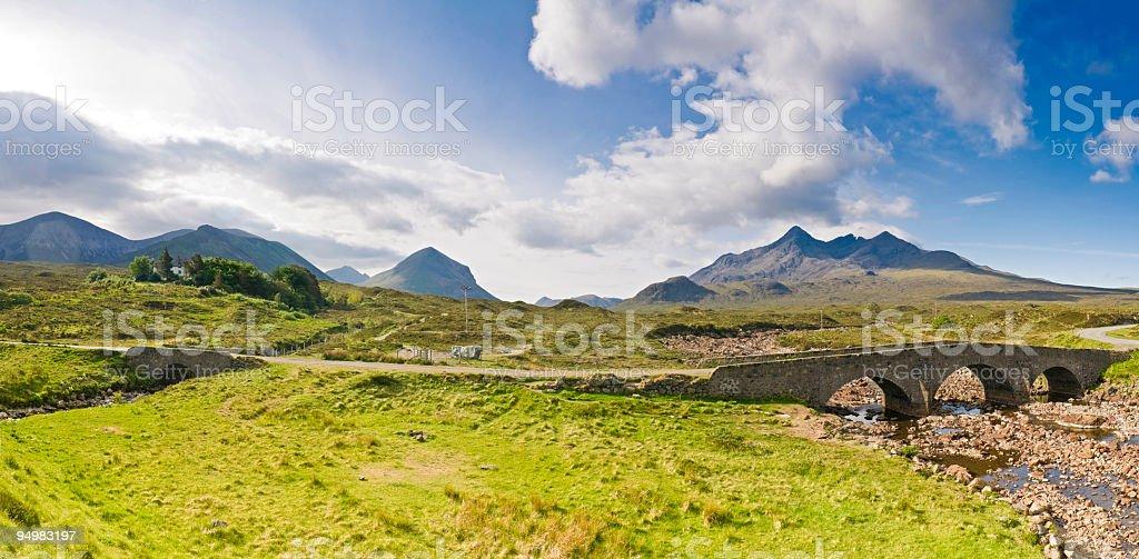 Dramatic peaks rustic road stock photo