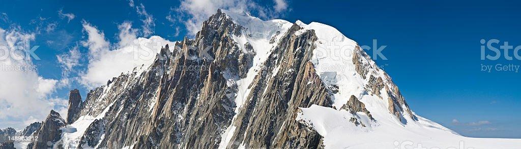 Dramatic pinnacles snowy summit royalty-free stock photo