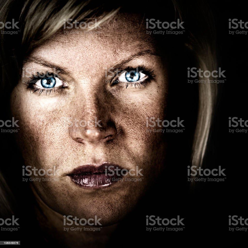 Dramatic Portrait stock photo