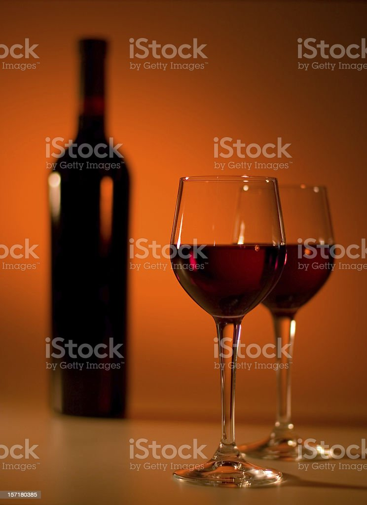 Dramatic Red Wine royalty-free stock photo