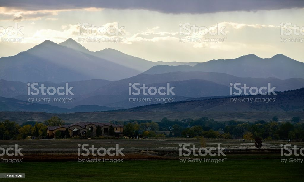 Dramatic Rocky Mountains stock photo