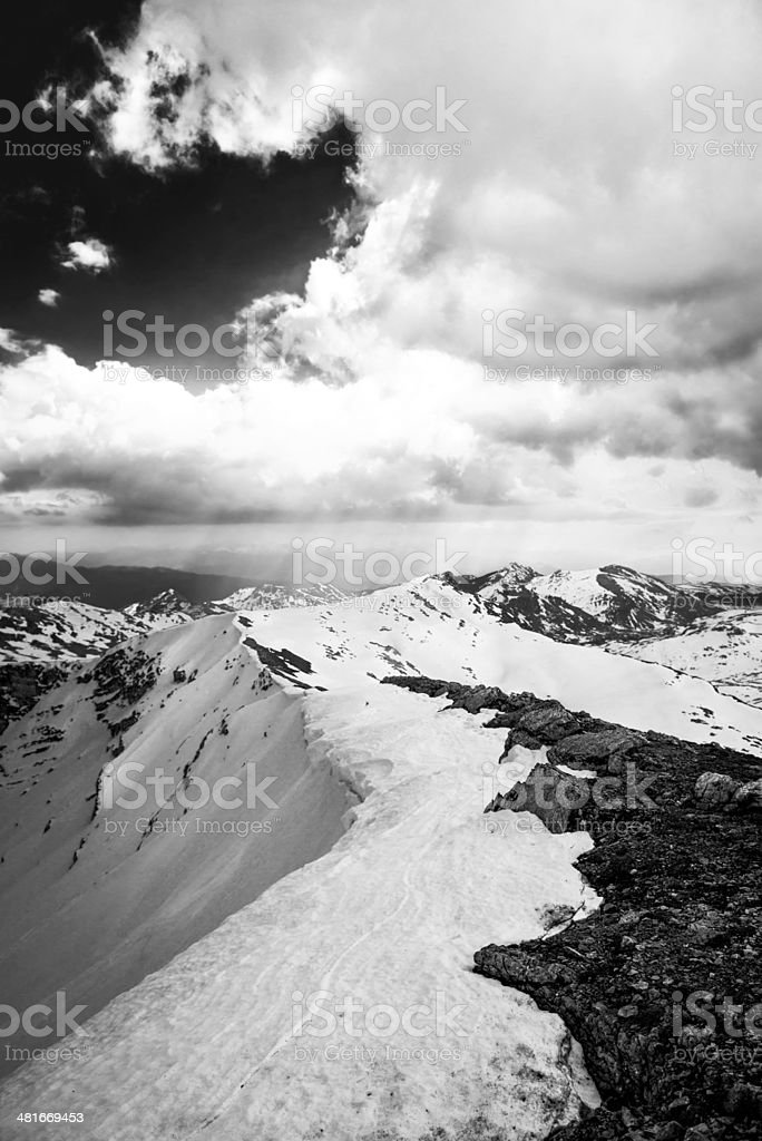Dramatic scene in the nature royalty-free stock photo
