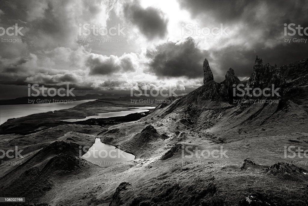 Dramatic Scottish Landscape stock photo