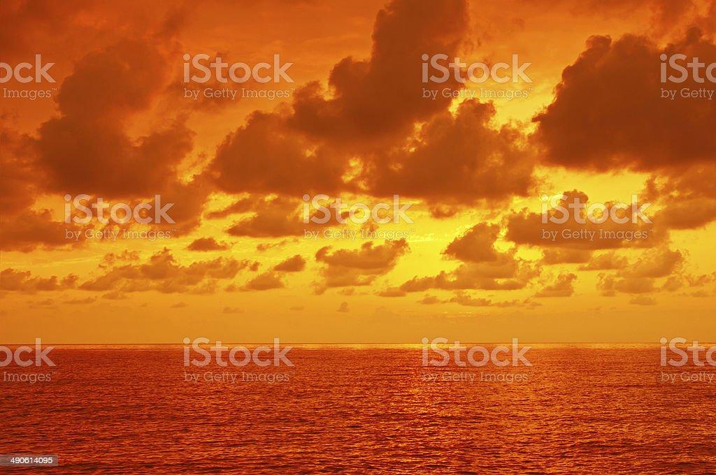 Dramatic sea royalty-free stock photo