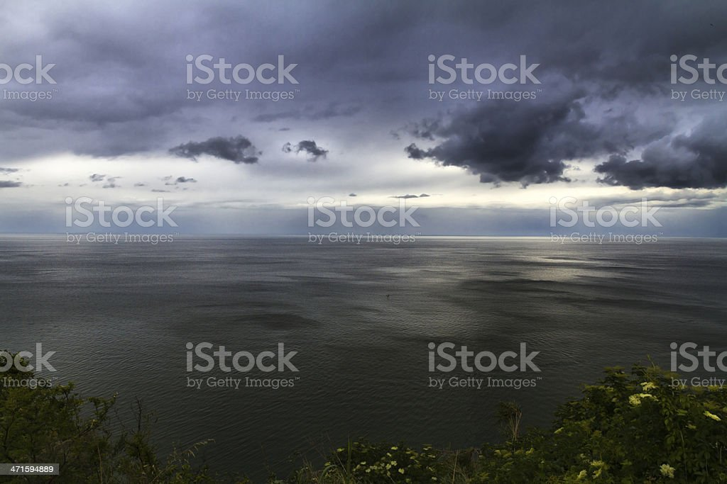 Dramatic seascape from promontory royalty-free stock photo