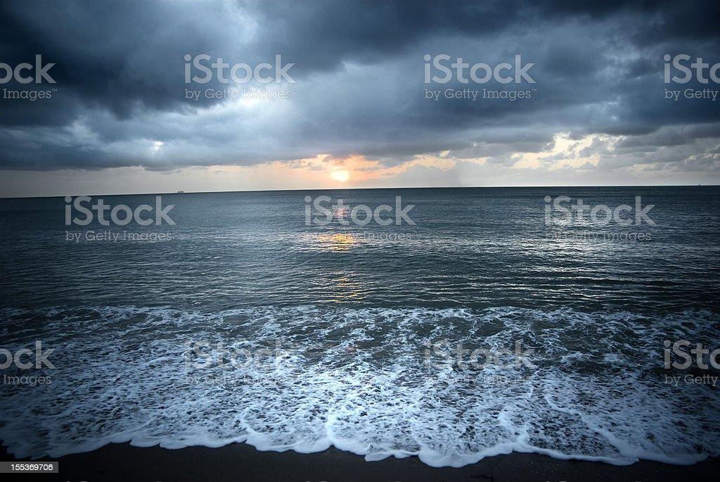 dramatic seascape royalty-free stock photo