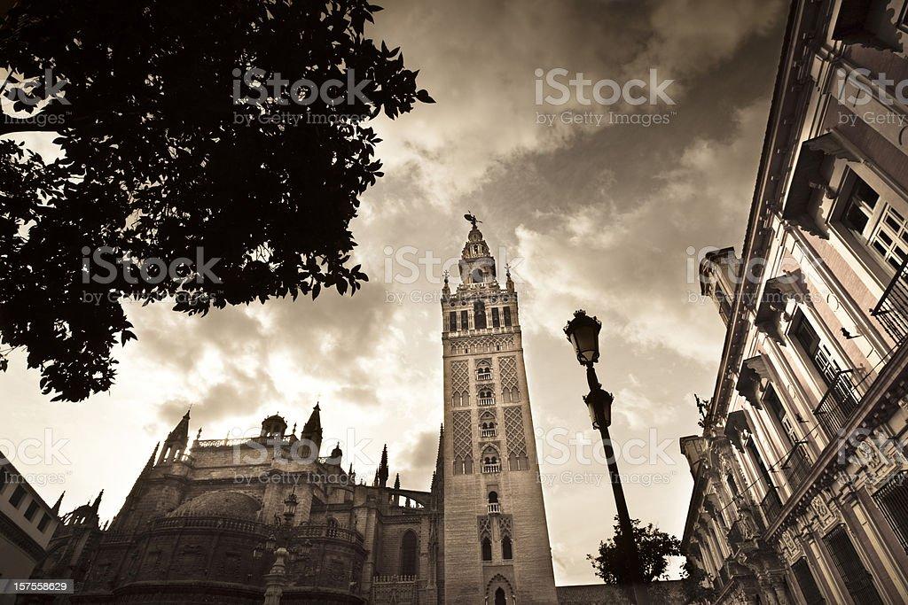 Dramatic Seville royalty-free stock photo