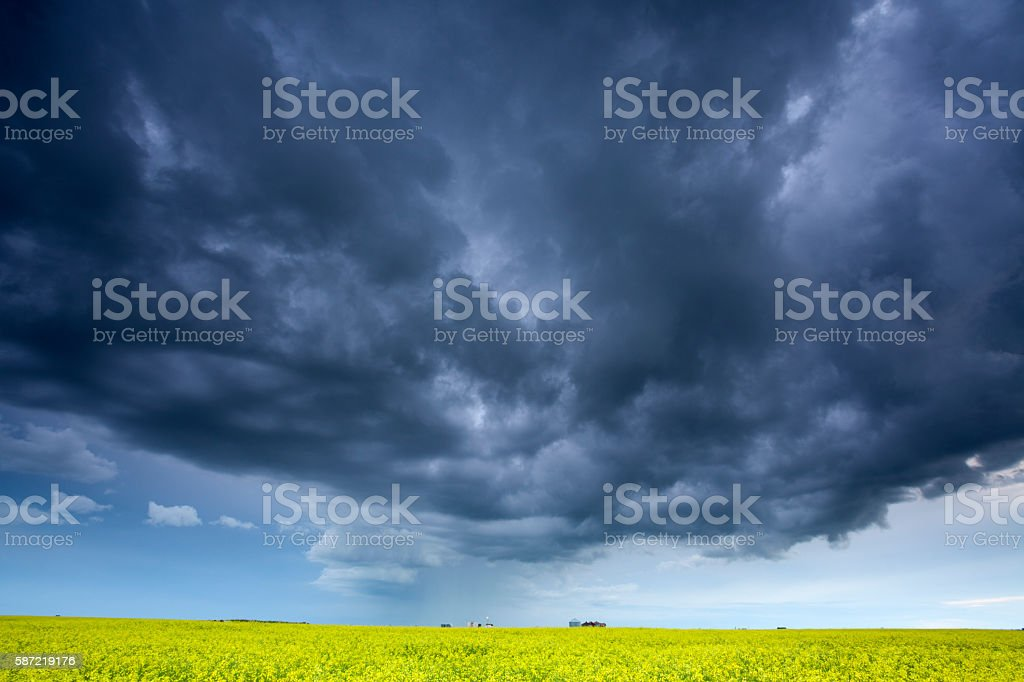Dramatic Skies Over Saskatchewan stock photo