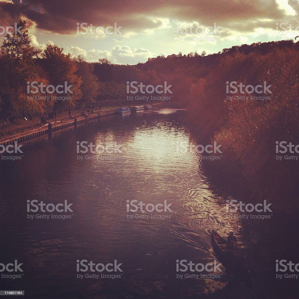 Dramatic Sky above Goring-on-thames royalty-free stock photo