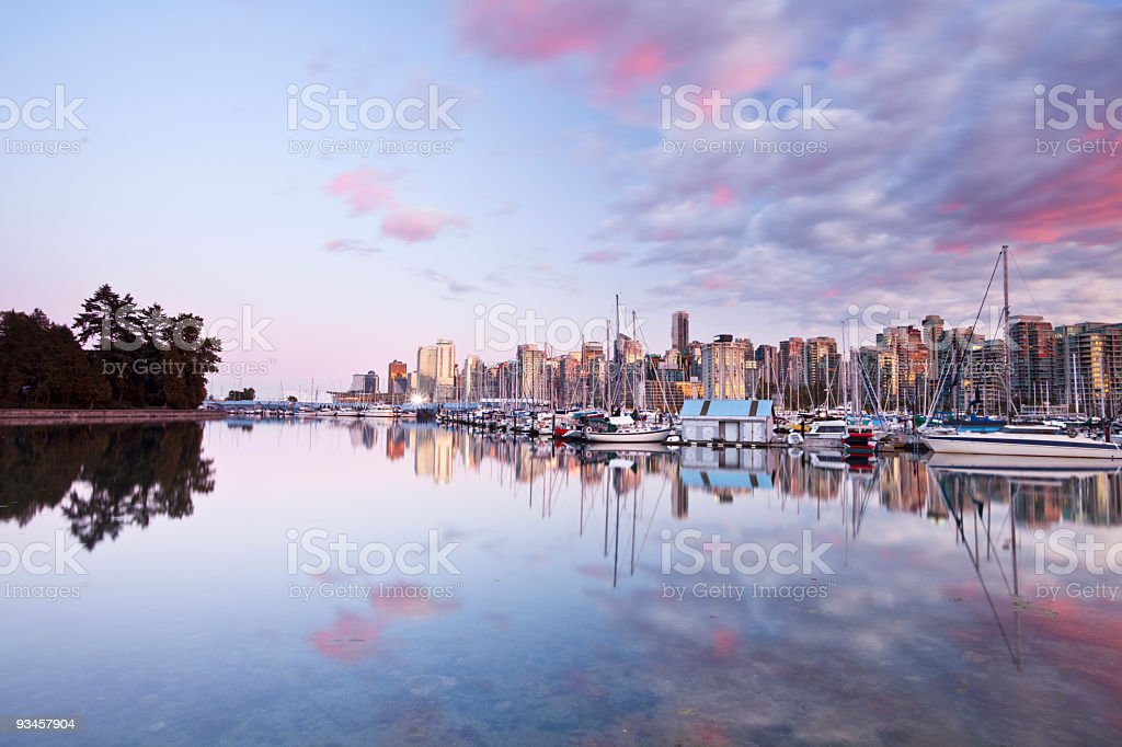 Dramatic Sky Above Vancouver royalty-free stock photo