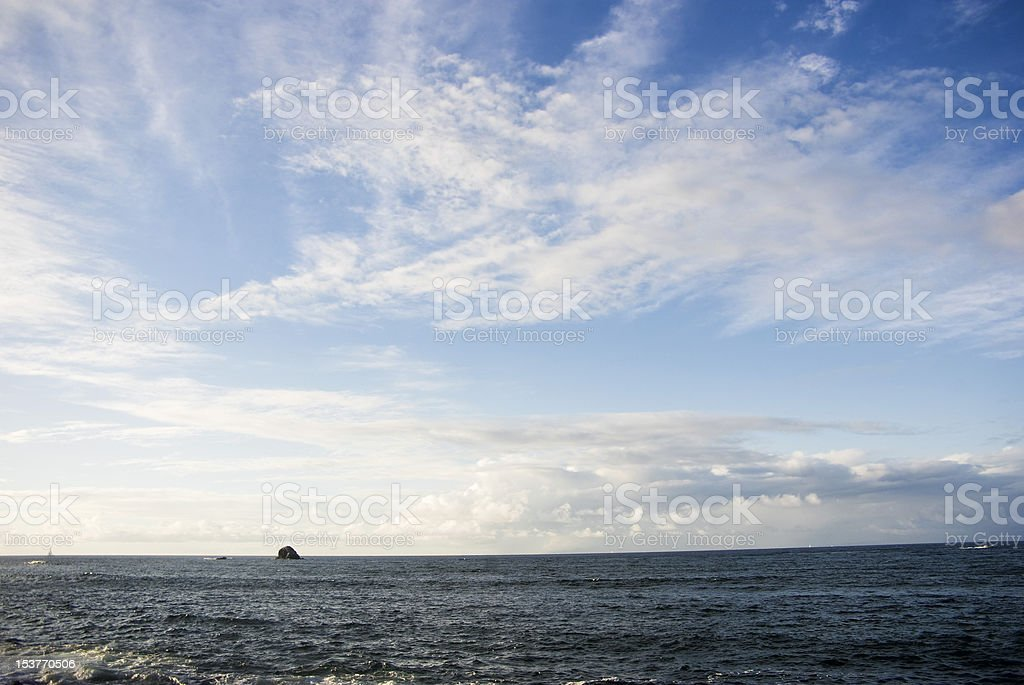 dramatic sky and ocean landscape royalty-free stock photo