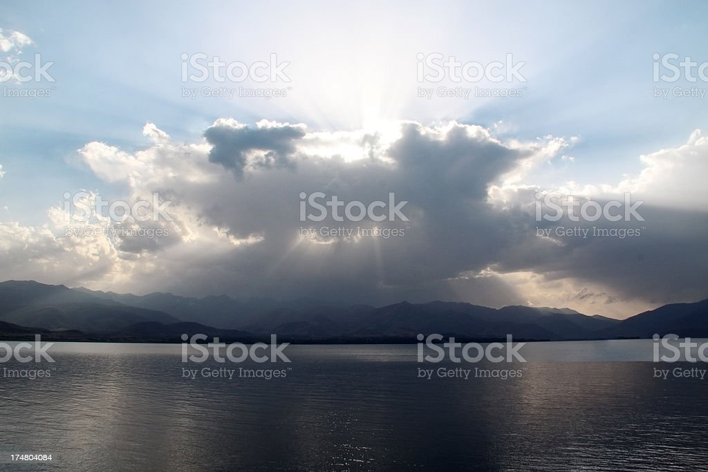 Dramatic sky and sea royalty-free stock photo