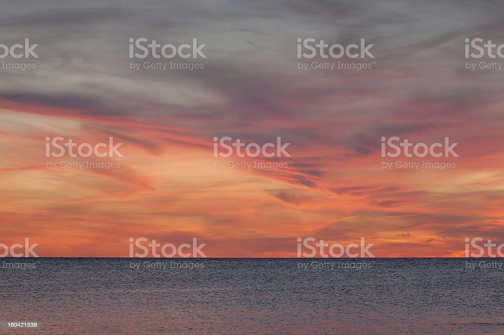 Dramatic sky at sunset royalty-free stock photo