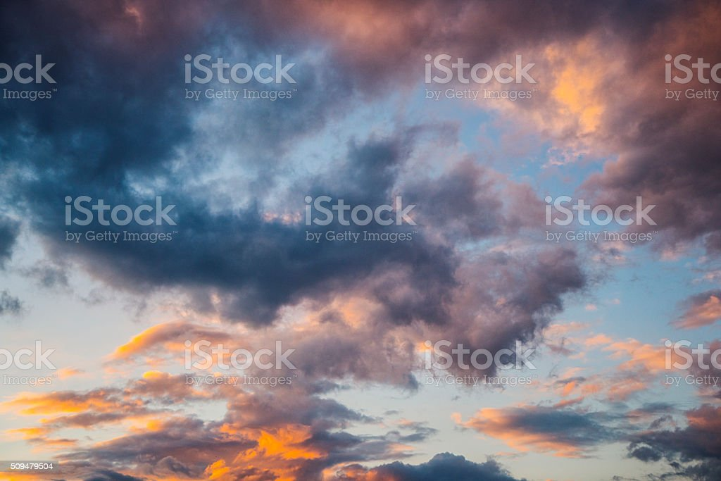 Dramatic sky background stock photo