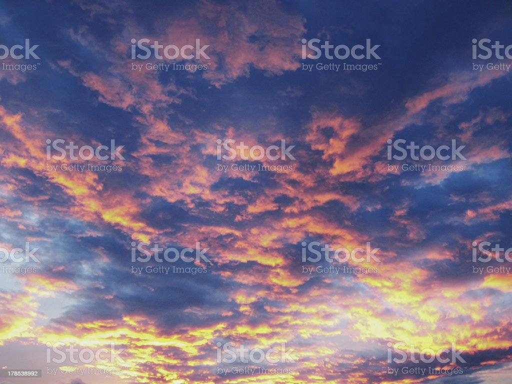 dramatic sky, clouds stock photo