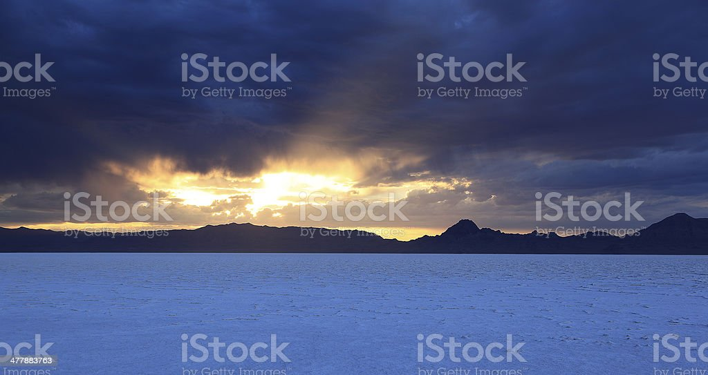 Dramatic Sky over Bonneville stock photo
