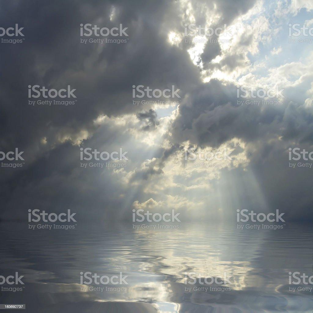 Dramatic sky over sea. royalty-free stock photo