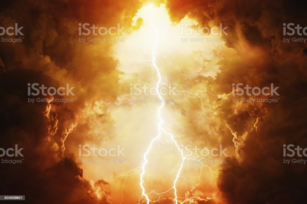 Dramatic sky stock photo
