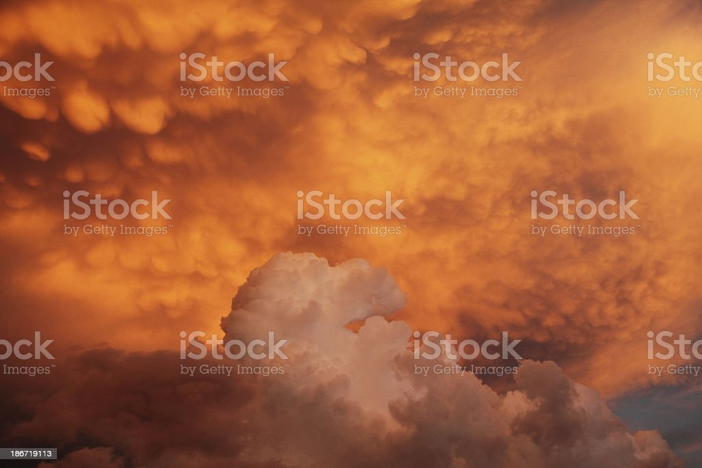 Dramatic Sky Sunset Cloud royalty-free stock photo