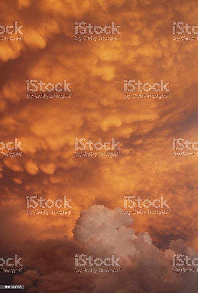 Dramatic Sky Sunset Cloud royalty-free stock photo