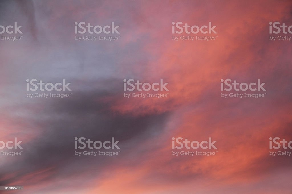 Dramatic Sky Sunset royalty-free stock photo
