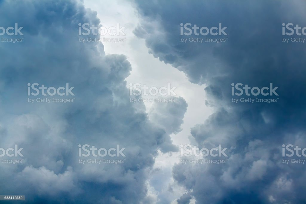 Dramatic sky with clouds stock photo
