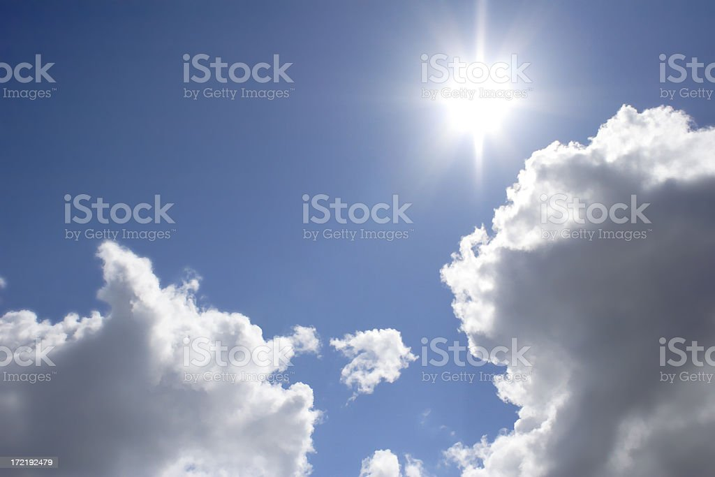 Dramatic Skyscape with Sun royalty-free stock photo