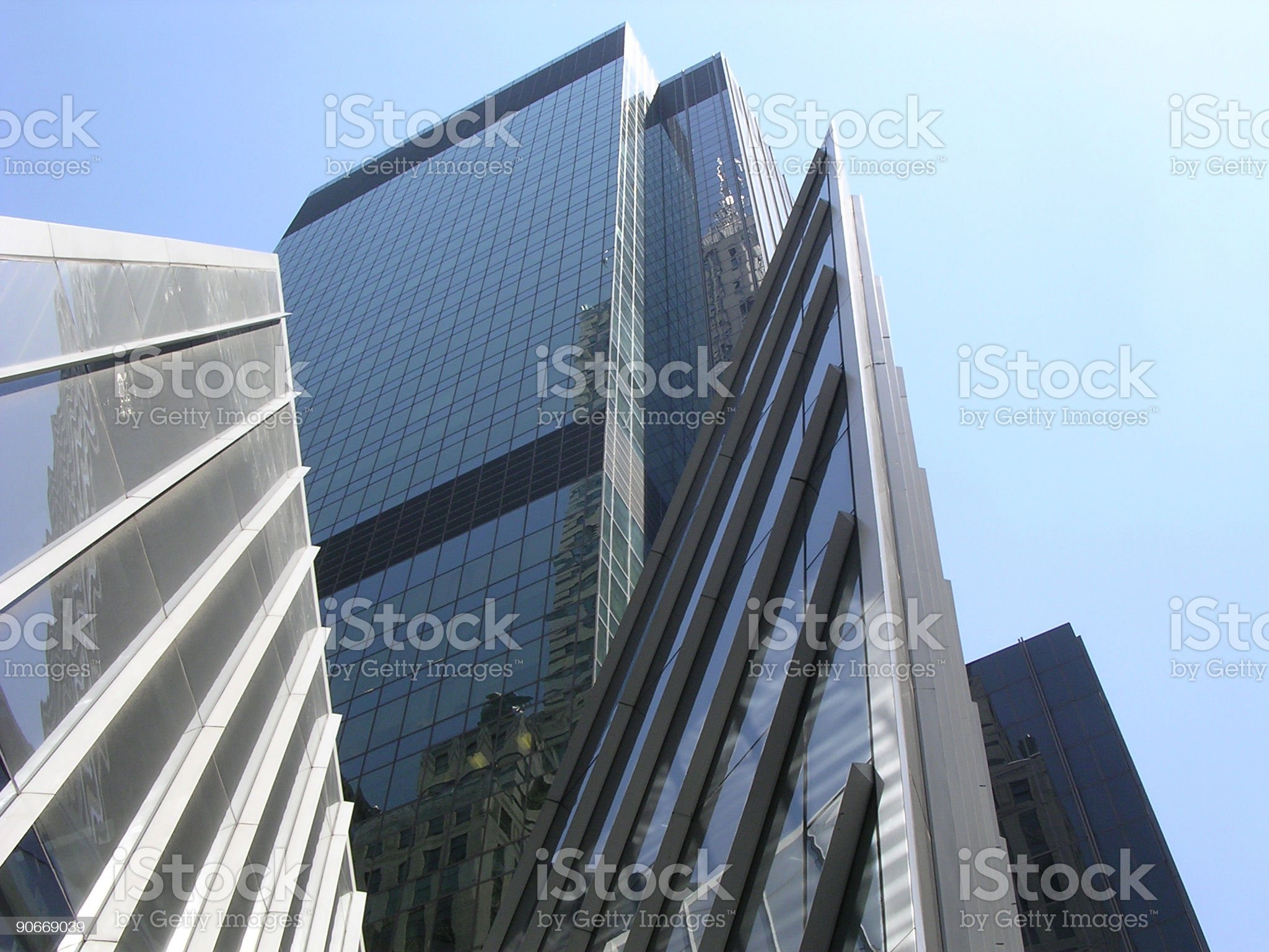 Dramatic Skyscrapers, NYC_2 royalty-free stock photo