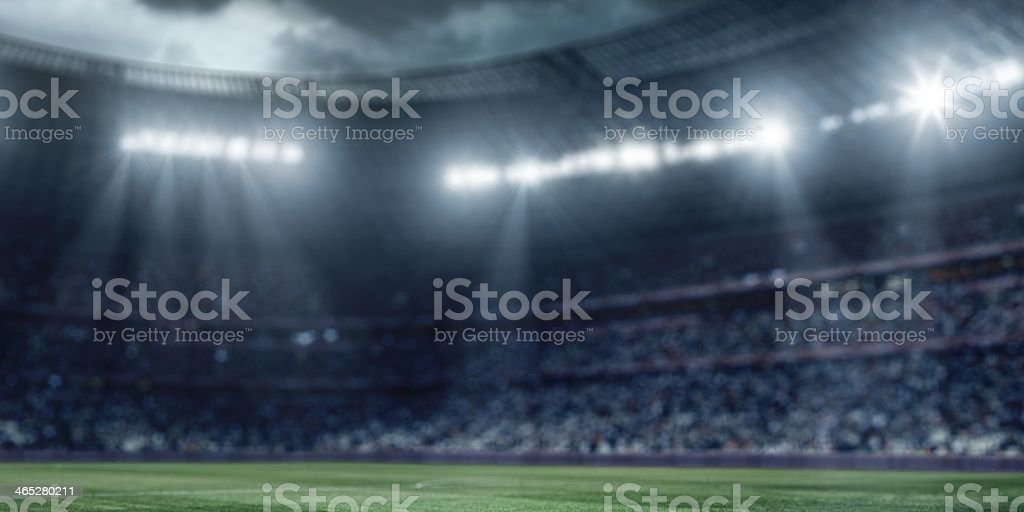 Dramatic soccer stadium royalty-free stock photo