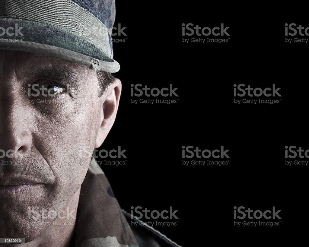 Dramatic Soldier Portrait stock photo