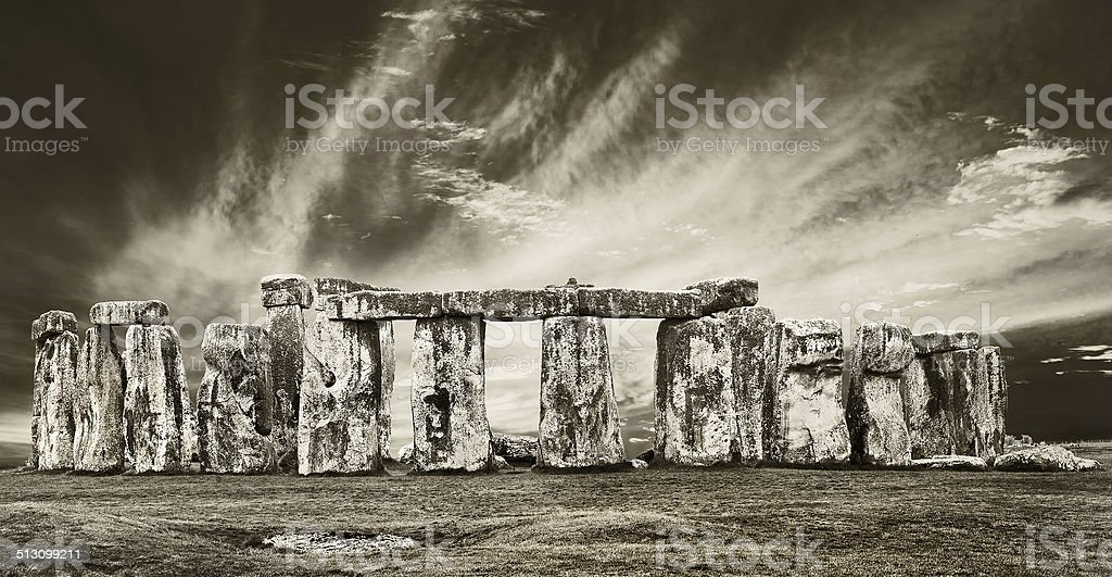 dramatic stonehenge stock photo