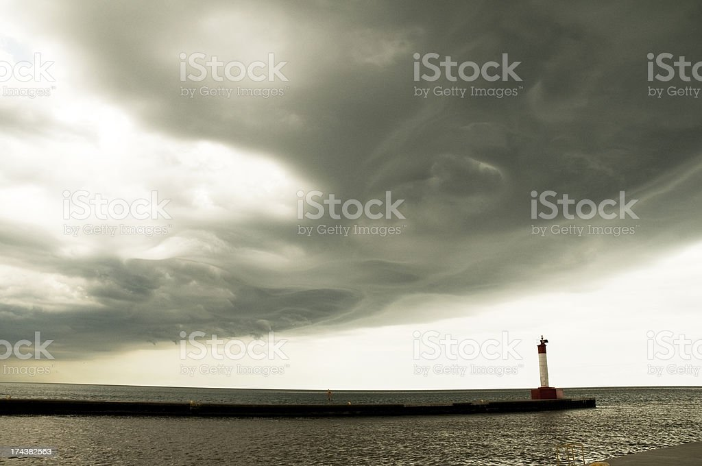 Dramatic Storm Front Approaching stock photo