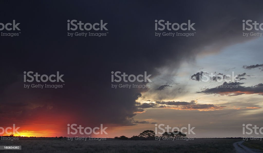 Dramatic Storm moving in on sunset royalty-free stock photo