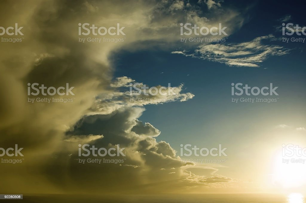 Dramatic Storm over the Ocean royalty-free stock photo